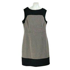 Lux II Sleeveless  Geometric Jacquard A-Line Dress